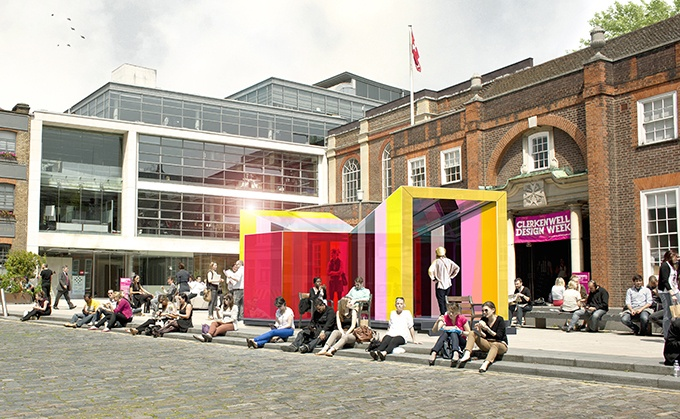 'Glaze' Pavilion for Clerkenwell Design Week