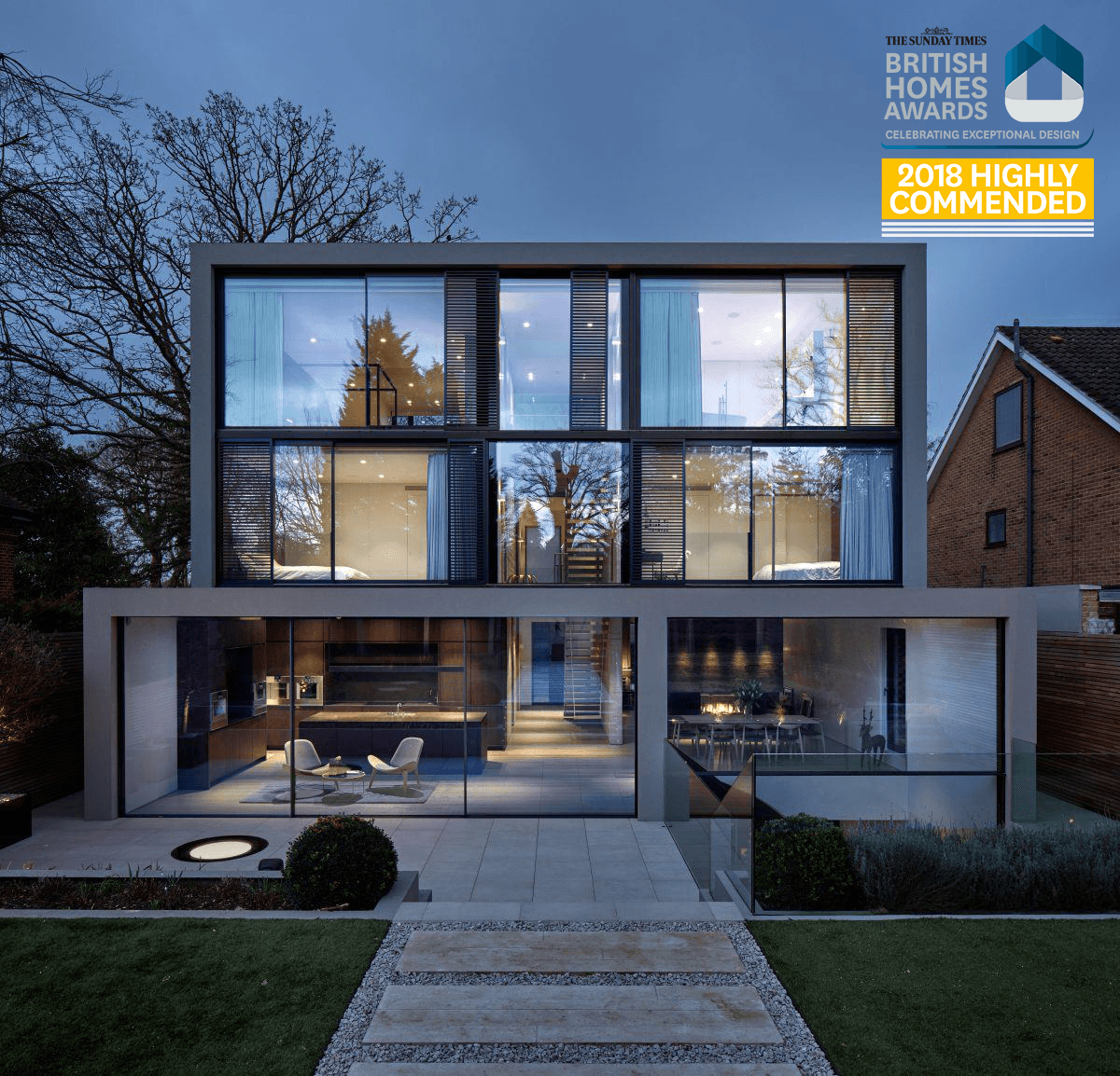 Kenwood Lee House has received a 'Highly Commended' award at the Sunday Times British Homes Awards 2018